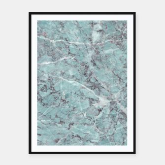 Thumbnail image of Teal Marble Texture Framed poster, Live Heroes