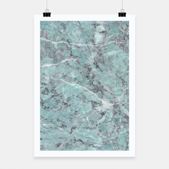 Thumbnail image of Teal Marble Texture Poster, Live Heroes