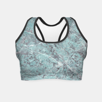 Thumbnail image of Teal Marble Texture Crop Top, Live Heroes