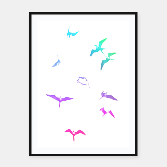 Thumbnail image of The magnificent frigatebirds *W* by #Bizzartino Framed poster, Live Heroes