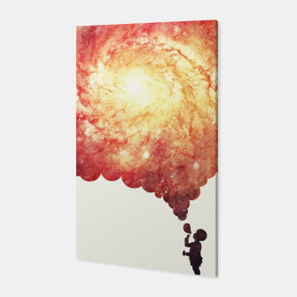 Miniature de image de The universe in a soap-bubble! (Awesome Space / Nebula / Galaxy Negative Space Artwork) Canvas, Live Heroes