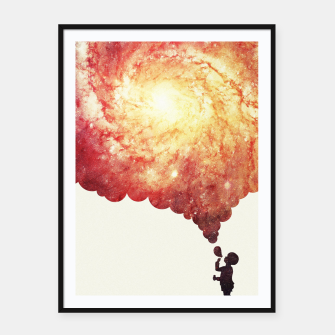 Thumbnail image of The universe in a soap-bubble! (Awesome Space / Nebula / Galaxy Negative Space Artwork) Framed poster, Live Heroes