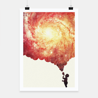 Thumbnail image of The universe in a soap-bubble! (Awesome Space / Nebula / Galaxy Negative Space Artwork) Poster, Live Heroes