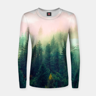 Thumbnail image of mountain landscape painting Sudadera de algodón para mujer, Live Heroes