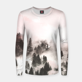 Thumbnail image of Pink mountainous landscape Sudadera de algodón para mujer, Live Heroes