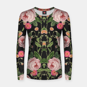 Miniatur Floral Tunes Woman cotton sweater, Live Heroes