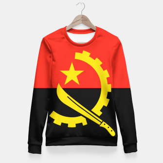 Thumbnail image of  Angola Flag Woman cotton sweater, Live Heroes