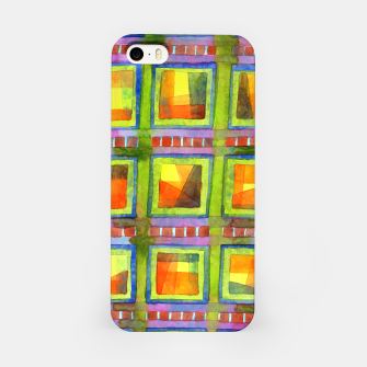 Thumbnail image of Light behind colorful geometric Windows  iPhone Case, Live Heroes