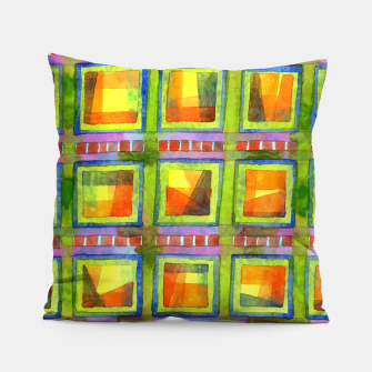 Thumbnail image of Light behind colorful geometric Windows  Pillow, Live Heroes