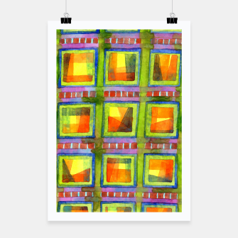 Thumbnail image of Light behind colorful geometric Windows  Poster, Live Heroes