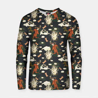 Thumbnail image of Asian tigers illustration pattern Sudadera de algodón, Live Heroes