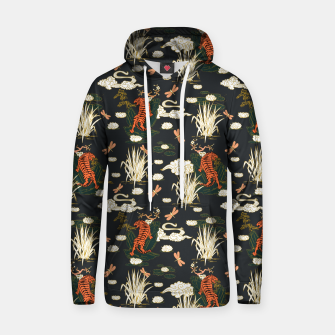 Thumbnail image of Asian tigers illustration pattern Sudadera con capucha de algodón, Live Heroes