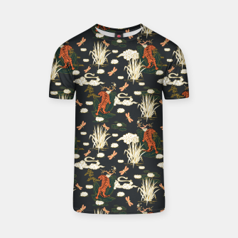 Thumbnail image of Asian tigers illustration pattern Camiseta, Live Heroes