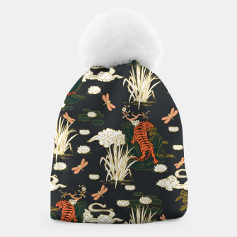 Thumbnail image of Asian tigers illustration pattern Gorro, Live Heroes