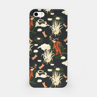 Thumbnail image of Asian tigers illustration pattern Carcasa por Iphone, Live Heroes