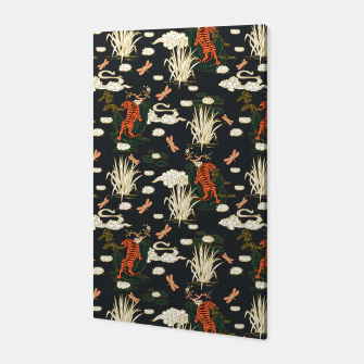 Thumbnail image of Asian tigers illustration pattern Canvas, Live Heroes