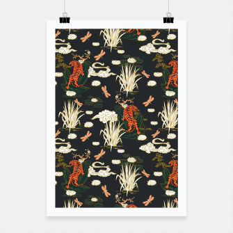 Thumbnail image of Asian tigers illustration pattern Cartel, Live Heroes
