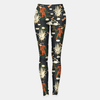 Thumbnail image of Asian tigers illustration pattern Leggings, Live Heroes