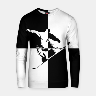 Thumbnail image of Black and White Snow Boarder Cotton sweater, Live Heroes