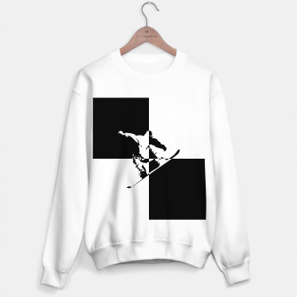 Miniatur Black and White Snow Boarder Sweater regular, Live Heroes