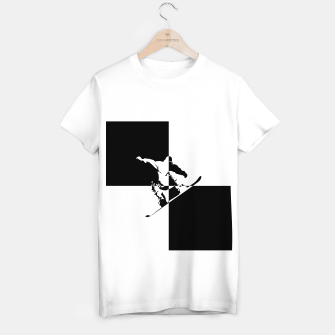 Thumbnail image of Black and White Snow Boarder T-shirt regular, Live Heroes