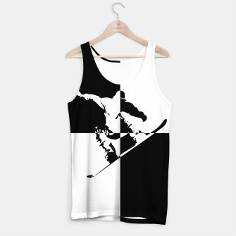 Thumbnail image of Black and White Snow Boarder Tank Top, Live Heroes