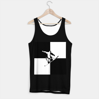 Thumbnail image of Black and White Snow Boarder Tank Top regular, Live Heroes