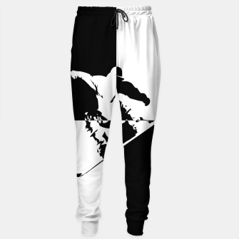 Thumbnail image of Black and White Snow Boarder Cotton sweatpants, Live Heroes