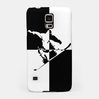 Thumbnail image of Black and White Snow Boarder Samsung Case, Live Heroes