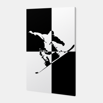 Thumbnail image of Black and White Snow Boarder Canvas, Live Heroes