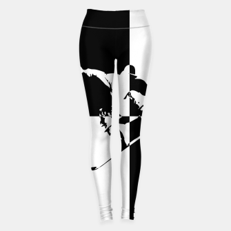 Thumbnail image of Black and White Snow Boarder Leggings, Live Heroes