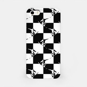 Thumbnail image of Black and White Snow Board Check Pattern iPhone Case, Live Heroes