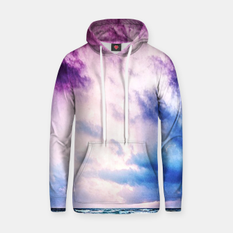 Cloudy shores Cotton hoodie thumbnail image