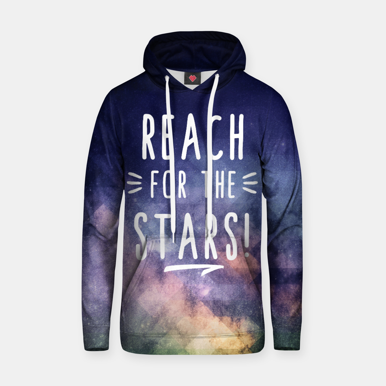 Image de Reach for the Stars Baumwoll Kapuzenpullover - Live Heroes