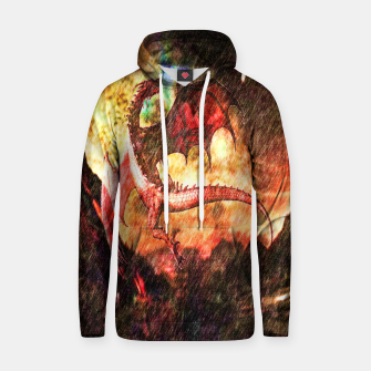Thumbnail image of Dragon's fire Cotton hoodie, Live Heroes
