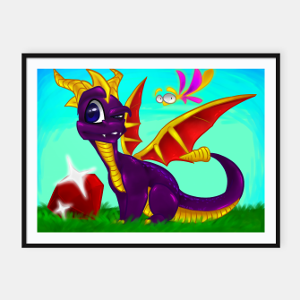Thumbnail image of Classic Spyro the Dragon Framed poster, Live Heroes