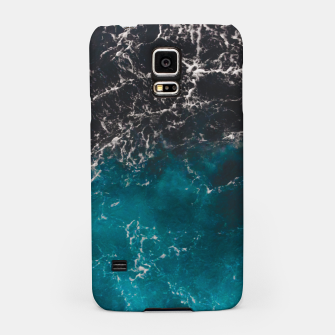 Thumbnail image of Wavy foamy blue black ombre sea water Samsung Case, Live Heroes