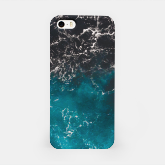 Thumbnail image of Wavy foamy blue black ombre sea water iPhone Case, Live Heroes