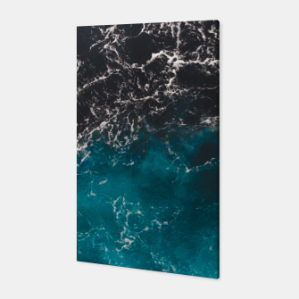 Thumbnail image of Wavy foamy blue black ombre sea water Canvas, Live Heroes