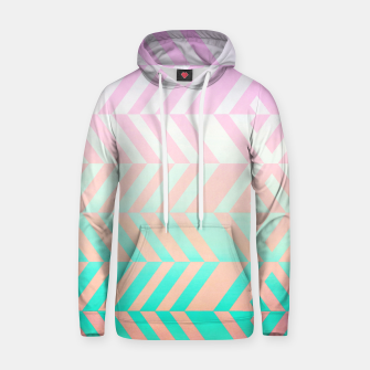 Thumbnail image of Chevron pattern Cotton hoodie, Live Heroes