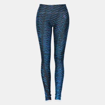 Thumbnail image of Dragonfly shiny vibrant blue wings Leggings, Live Heroes
