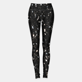 Thumbnail image of Black and white shiny glitter sparkles Leggings, Live Heroes