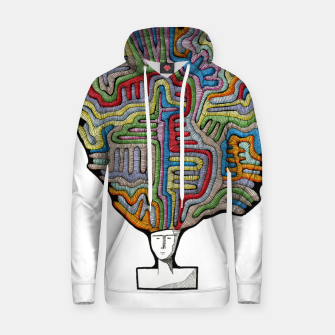 Thumbnail image of WORM THOUGHTS Cotton hoodie, Live Heroes