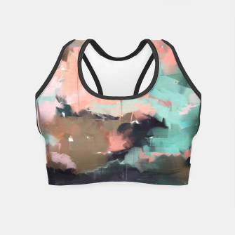 Thumbnail image of Abstract art of strokes Crop Top, Live Heroes