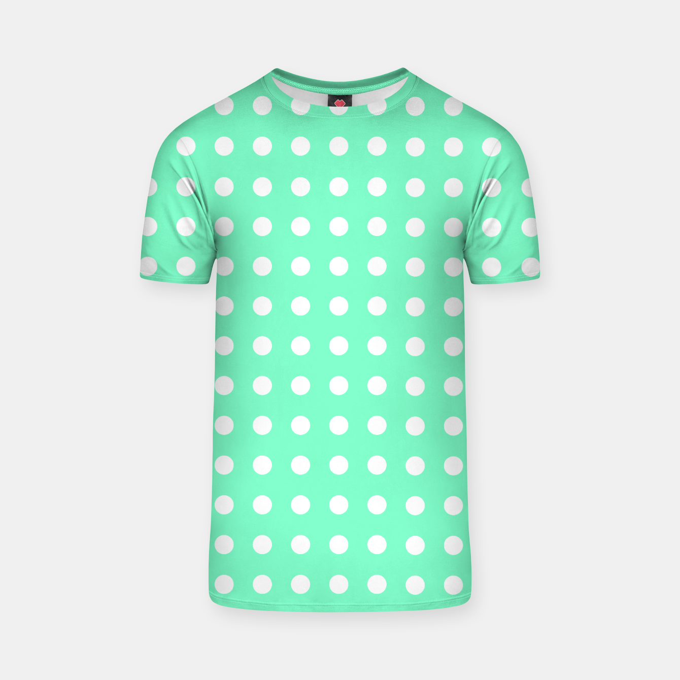 Image of Light green polka dot T-shirt - Live Heroes