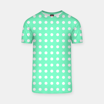 Thumbnail image of Light green polka dot T-shirt, Live Heroes