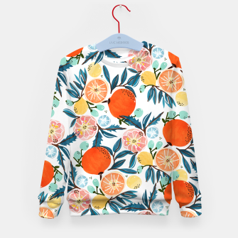 Thumbnail image of Fruit Shower Kid's sweater, Live Heroes