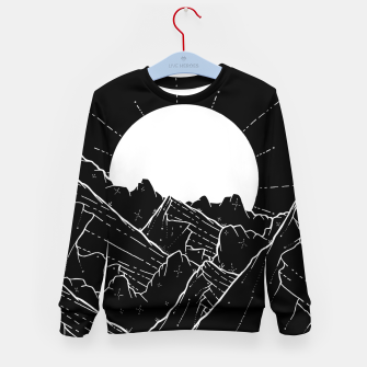 Thumbnail image of The bright white moon rises Kid's sweater, Live Heroes