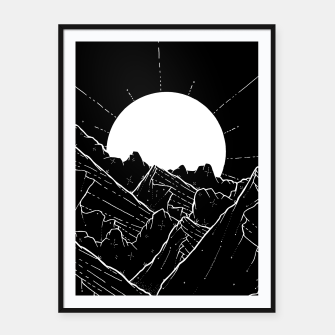 Thumbnail image of The bright white moon rises Framed poster, Live Heroes