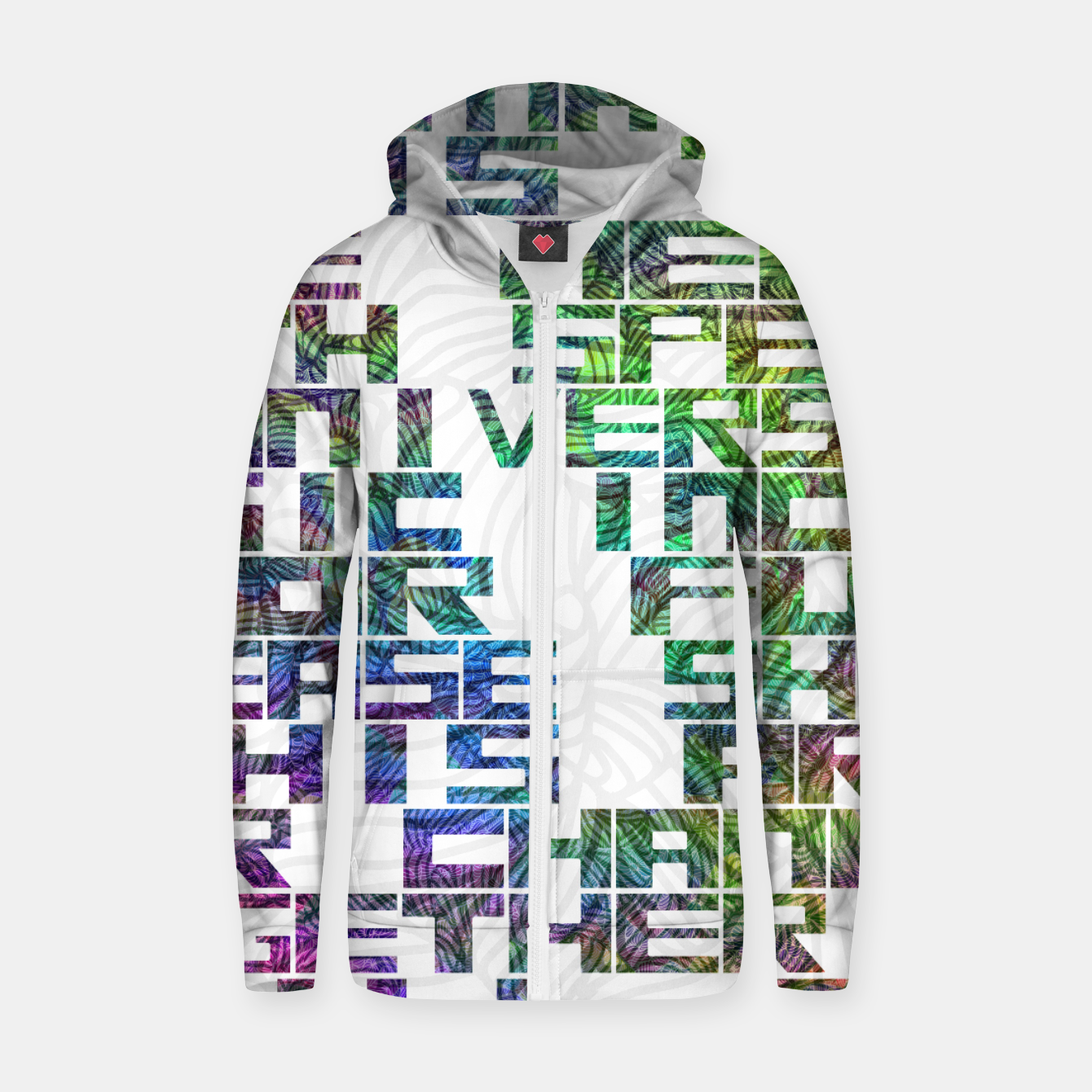 Image of It is time Cotton zip up hoodie - Live Heroes